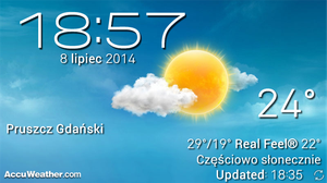 AccuWeather Widget Based on SG4 by Slavoo123