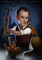 Peter Cushing by face-in-the-sky