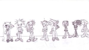 The Hedgehog Females by SagaHanson25