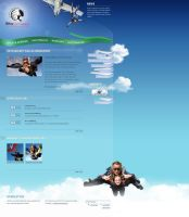 Skydiver Website by medienvirus