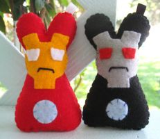 Iron Bunny Plushes by P-isfor-Plushes