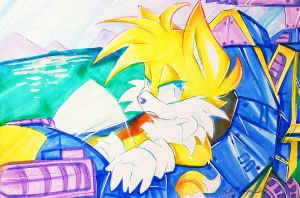 Tails 'Miles' Prower + (Speed Drawing) by SilverDreams7