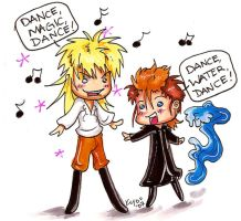 Demyx vs David Bowie by TwistedFirestarter
