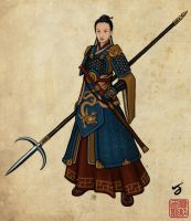 Chinese Warrior by I-M-M-O
