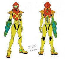 Samus Aran Power Suit by D-Arm