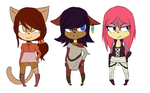 Sonic girls adoptables OPEN by KAIHUJLOW