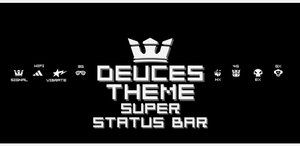 Deuces Statusbar Theme for Super Staus Bar. by kgill77