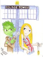 Doctor What and Rose Terra by WingedWolfGirl