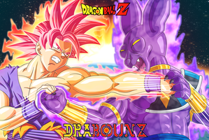 Son Goku ssj godvs Bills by DrabounZ