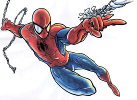 spiderman watercolors by PetarMKD