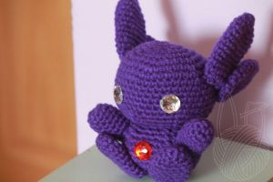 Sableye - for sale on Etsy by theyarnbunny