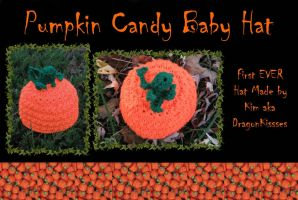 Pumpkin Candy Baby Hat by DragonKissses