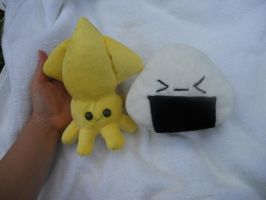 Minky Onigiri and Squid by Love-Who