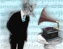 Cat man and his music v2 by cytherina