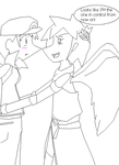 Crappy lineart of Pit x Rina by IndieBlueshipper