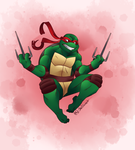 Raphael Leaping by Shellsweet