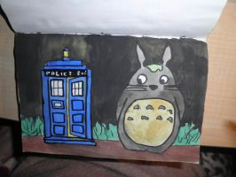 Tardis and totoro by anadarksoul