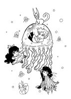 Jellyfish Fun by sadwonderland