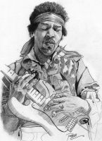 Jimi Hendrix sketch by RenEscar