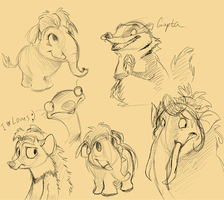 Ice age sketches by Frozenspots