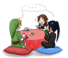 All around the table by Koto-wari