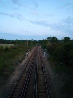 Train Tracks 2 by Renire-Stock