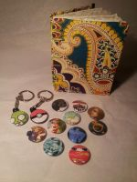 Aladdin inspired book and Fandom Pins, Keychains by Pepper-Dragon