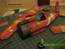 Tails Airplane - The making of by MoonchildLuiza