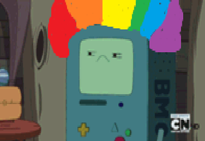 BMO has another rainbow problem. by Cakeisacat9001