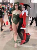Harley Quinn and Long Halloween Poison Ivy by miss-kitty-j