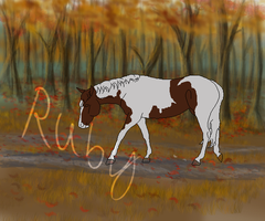 Fall Horse WIP#1 by WhimsicalRuby