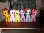 The Mane Six Build-a-Bears/Ponies by mizuki12341