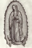 Lady of Guadalupe by Mandrew