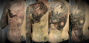 bloody skull halfback prog by 2Face-Tattoo