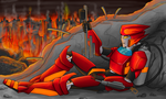 Some mechs just want to watch Cybertron burn... by Sziondaisy