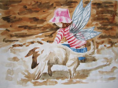 Watercolour prep: Mud Fairy by Butterfly-Empress7