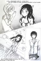 Ayu to Shin ~  That picture I drew you page 1. by kagomedarkangel
