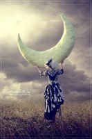 Touching the moon by HenriqueThenryLI