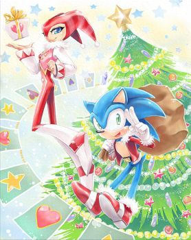 Christmas Nights and Sonic by kichigai