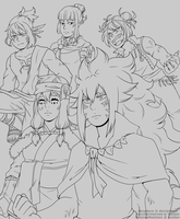 [FT] Dragon Slayers by Amadere