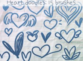 Heart Doodles Brushes 2 by ibeliever