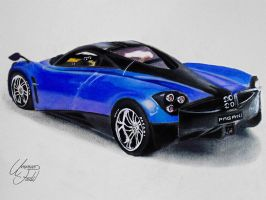 Drawing Cars 3 - Pagani Huayra by f-a-d-i-l