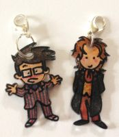 Kawaii 8th and 10th Doctor charms by Lovelyruthie