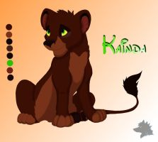 Kainda Cub Ref Sheet by MeanCheen
