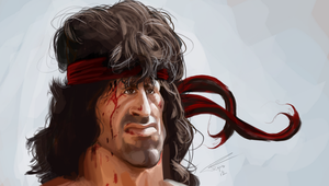 Sylvester Stallone as Rambo by TomRutjens