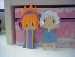 TWEWY- Neku and Joshua Paperdolls by Imimi-Ai
