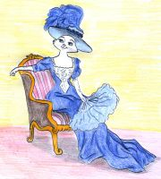 Edwardian Duchess on a chair by greydeer2010