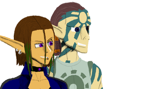 Torn and Sam Jak X by AlphonseElric411