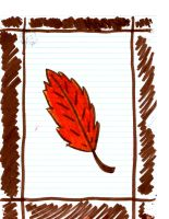 the first fallen leaf by autumn2010