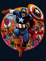 Capitan America color TMD by DONAHUE-t